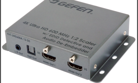 Gefen now shipping 4K Ultra HD 600 MHz 1:2 Scaler