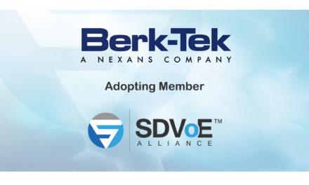 Berk-Tek joins SDVoE Alliance