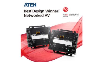 ATEN 4K video over IP extender wins Red Dot Design Award 2018