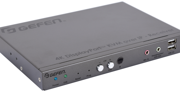 Nortek Security & Control  now shipping Gefen 4K DisplayPort KVM Over IP Receiver