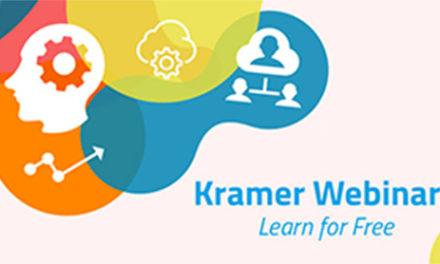 Kramer hosts free training webinars