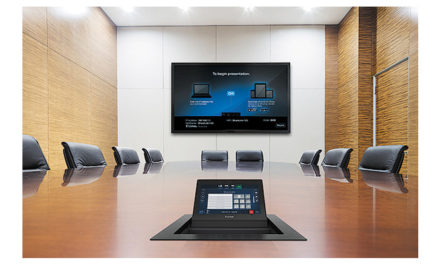 Extron Touchpanel blends powerful AV control with a cable cubby