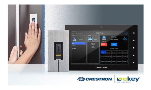 Crestron partners with ekey