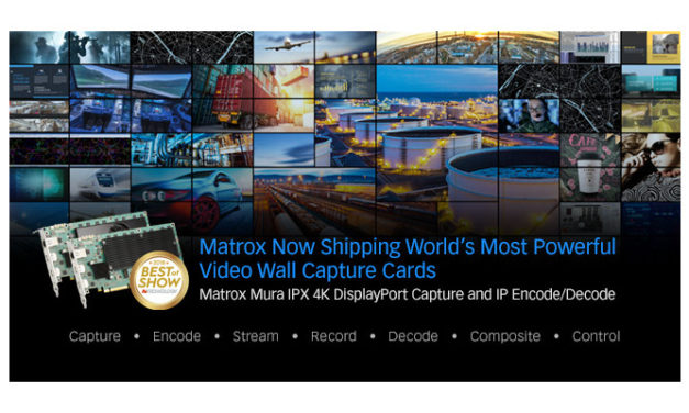 Matrox now shipping Mura IPX 4K DisplayPort