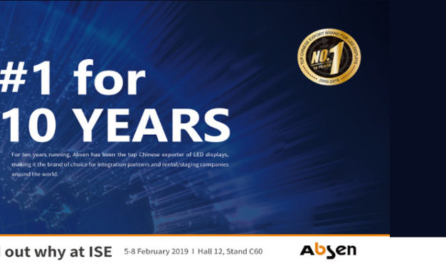 ABSEN CELEBRATES 10 YEARS AS  LEADING CHINESE LED EXPORTER