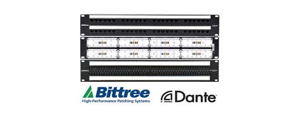 WORLD'S FIRST DANTE NETWORK-ENABLED PATCHBAY
