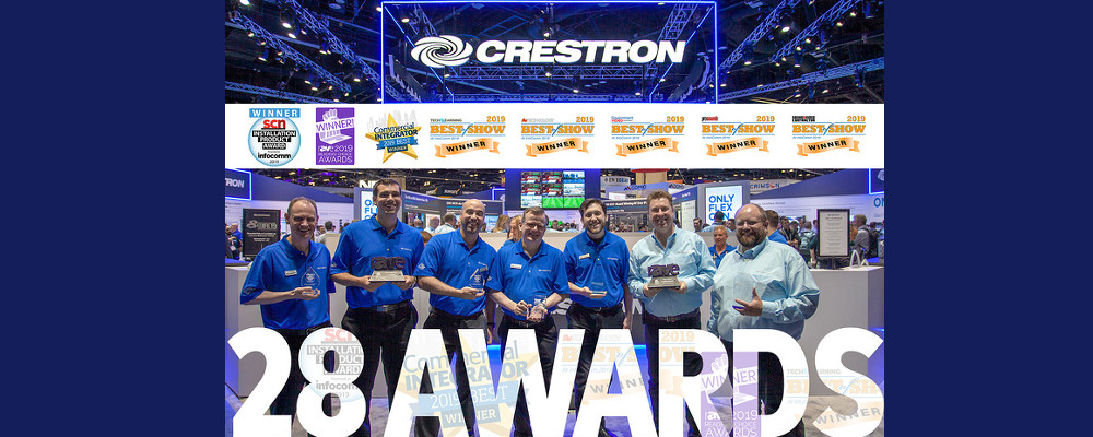 CRESTRON WINS INDUSTRY AWARDS AT INFOCOMM 2019