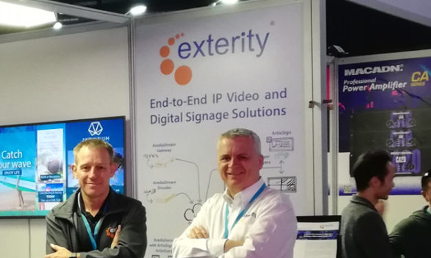 EXTERITY BRINGS ITS IP VIDEO, DIGITAL SIGNAGE AND GUEST EXPERIENCE TO MEDIATECH